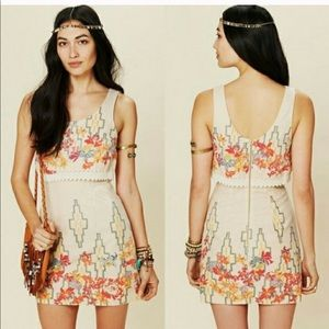 Free people the Big Bang metallic mini dress sz 4